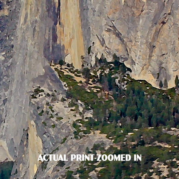 Yosemite National Park Poster-Half Dome