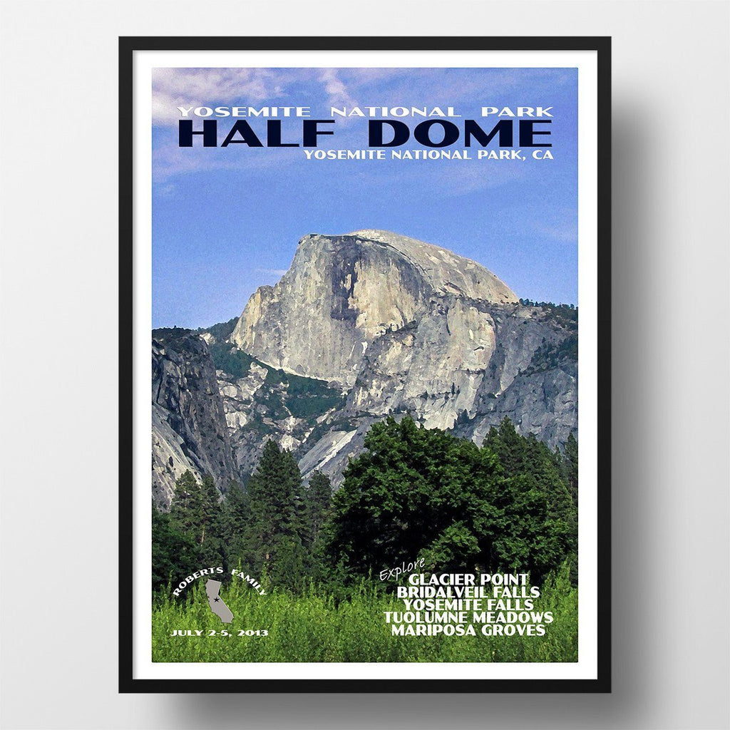 Yosemite National Park Poster-Half Dome (Personalized)