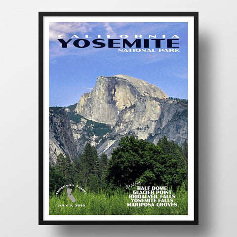 Yosemite National Park Poster-Yosemite (Personalized)