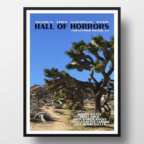 Joshua Tree National Park Poster-Hall of Horrors (Personalized)