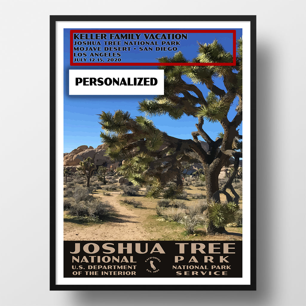 Joshua Tree National Park Poster, WPA Style, Hall of Horrors