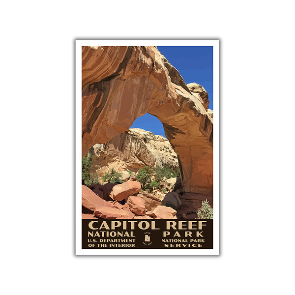 capitol reef national park poster wpa