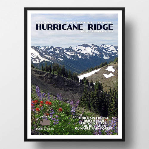 Olympic National Park Poster-Hurricane Ridge Wildflowers (Personalized)