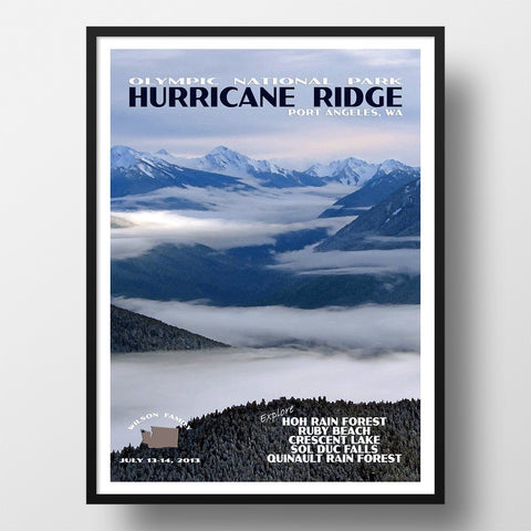 Olympic National Park Poster-Hurricane Ridge (Personalized)
