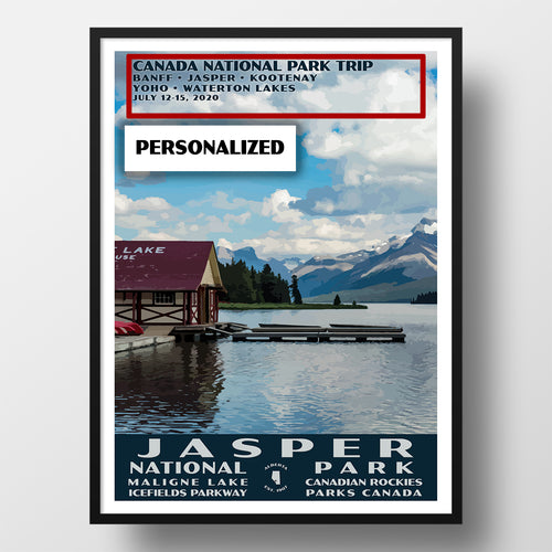 Jasper National Park Poster Personalized