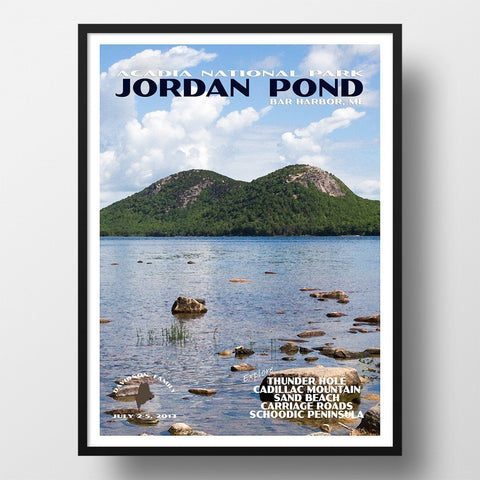 Acadia National Park Poster-Jordan Pond (Personalized)