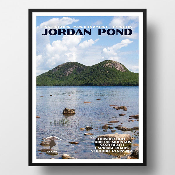 Acadia National Park Poster-Jordan Pond