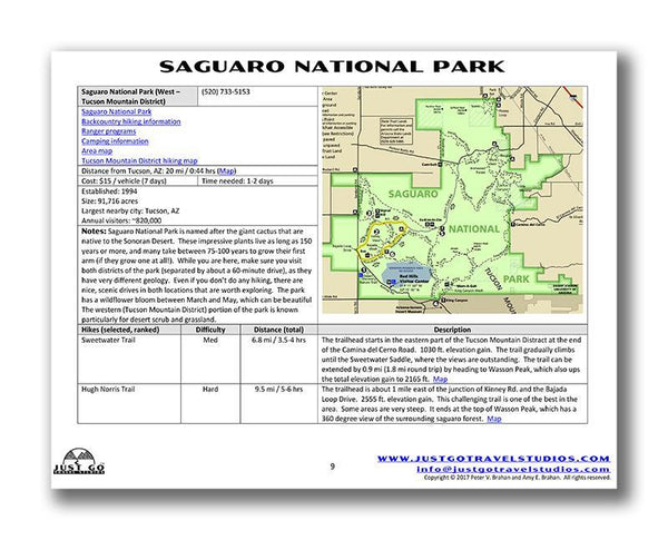 Saguaro National Park Itinerary