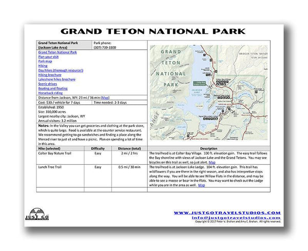 Yellowstone National Park and Grand Teton National Parks Itinerary