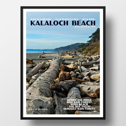 Olympic National Park Poster-Kalaloch Beach (Personalized)