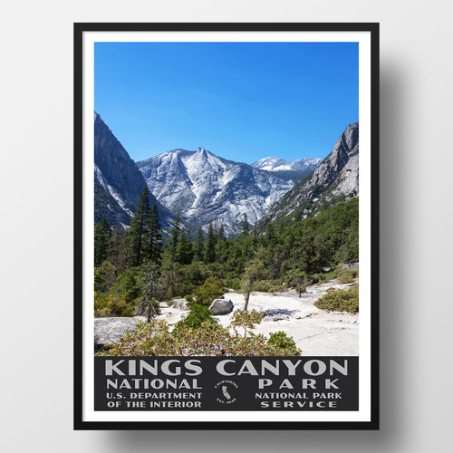 Kings Canyon National Park Poster, WPA style