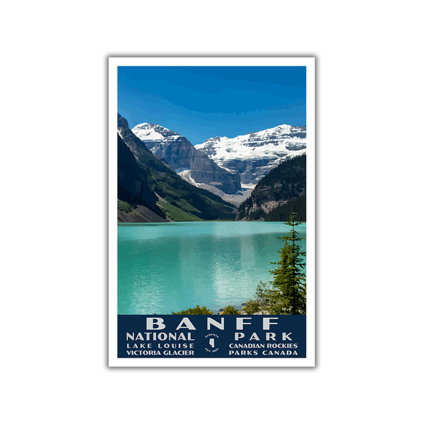 Banff National Park Poster-WPA (Lake Louise)