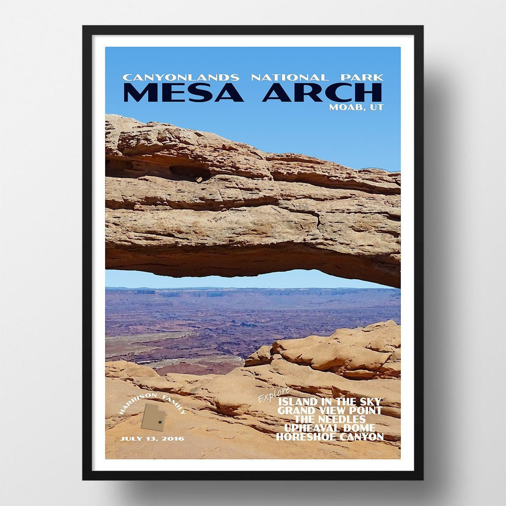 Canyonlands National Park Poster-Mesa Arch (Personalized)