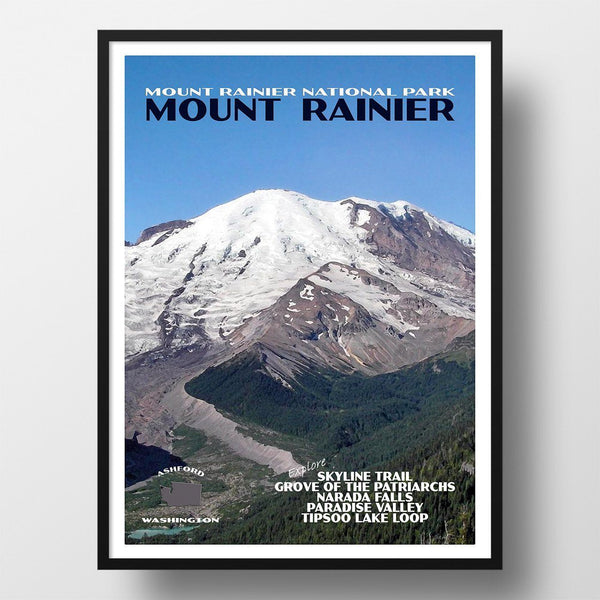 Mount Rainier National Park Poster-Mount Rainier