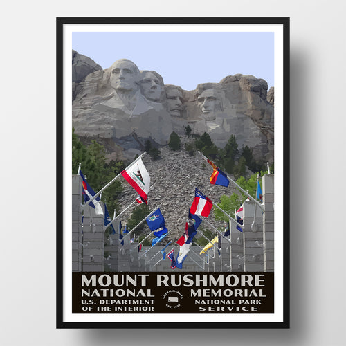 Mount Rushmore National Memorial Poster