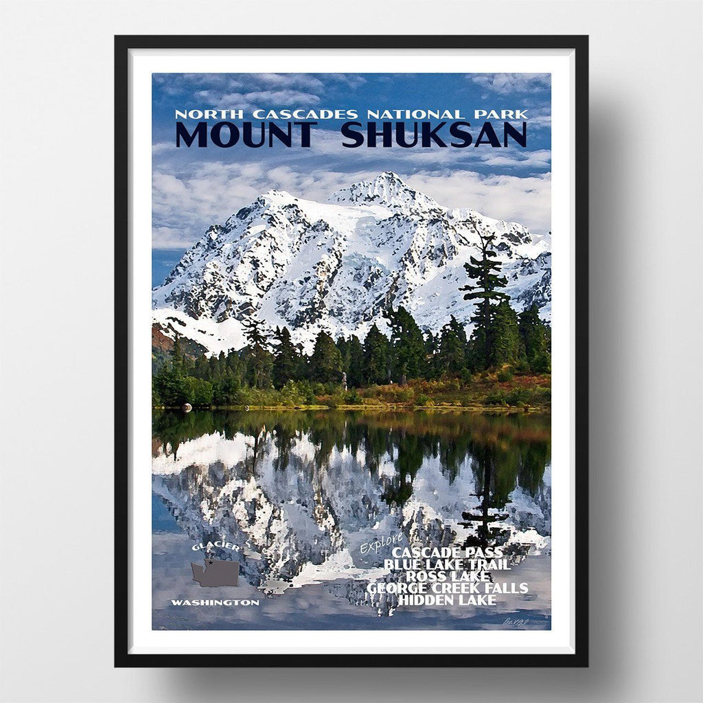 North Cascades National Park Poster-Mount Shuksan