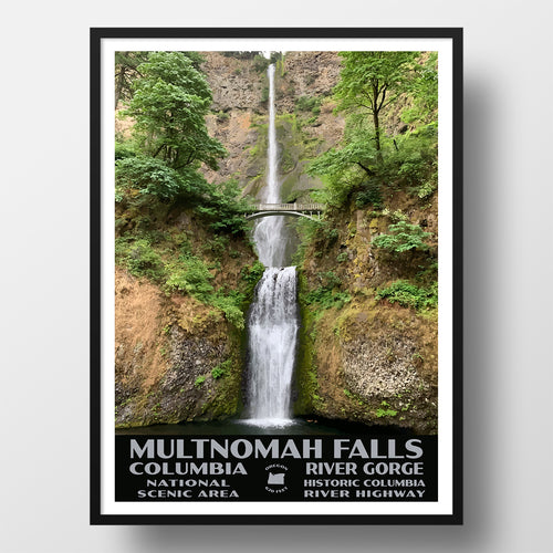 Columbia River National Scenic Area Poster-WPA (Multnomah Falls)