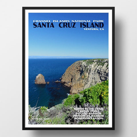 Channel Islands National Park Poster-Santa Cruz Island (Personalized)