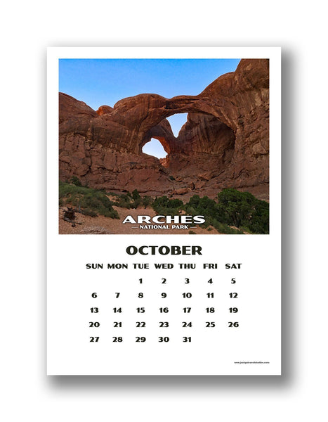 National Park Calendar (12 month) - 2019
