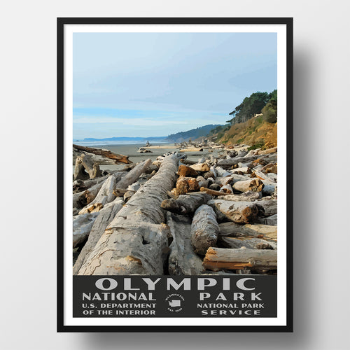Olympic National Park poster Kalaloch Beach