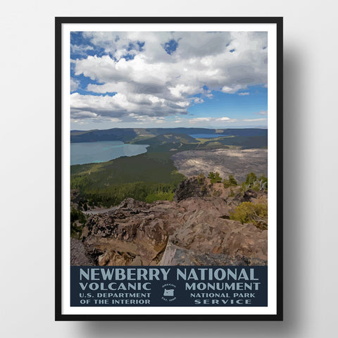 Newberry National Volcanic Monument Poster-WPA (Paulina Peak)