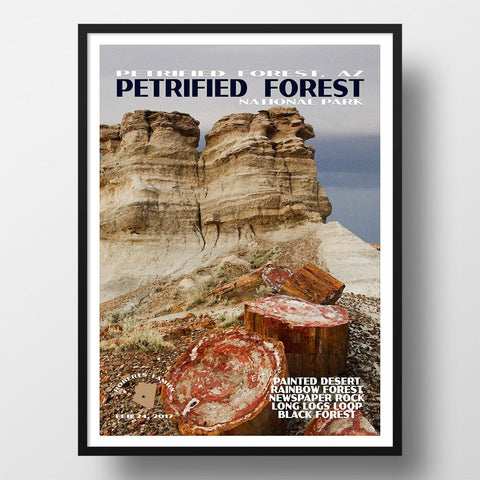 Petrified Forest National Park Poster-Petrified Forest (Personalized)