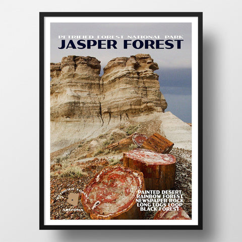 Petrified Forest National Park Poster-Jasper Forest