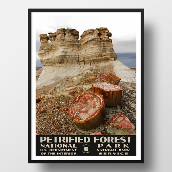 Petrified Forest National Park Poster, WPA Style