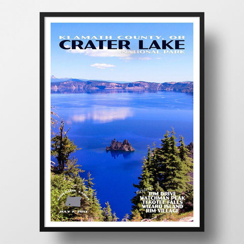 Crater Lake National Park Poster-Crater Lake (Personalized)