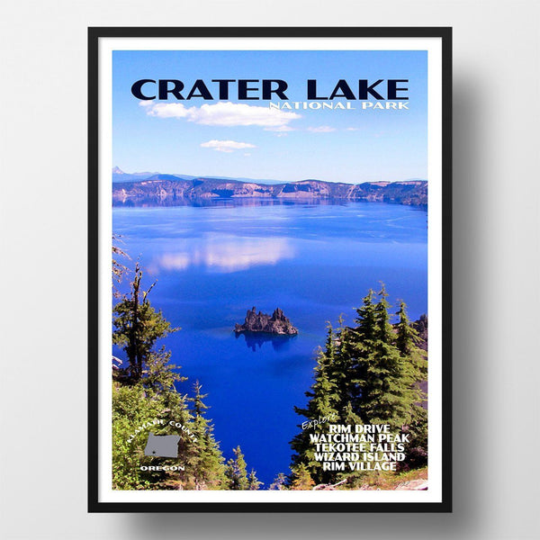 Crater Lake National Park Poster-Crater Lake