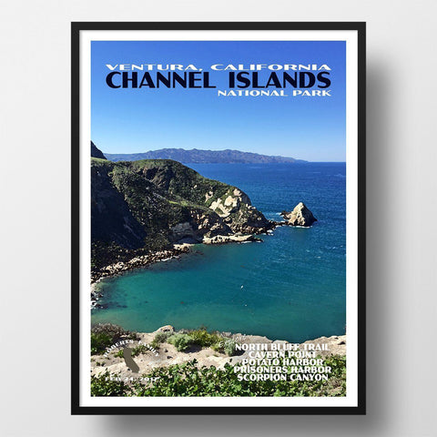 Channel Islands National Park Poster-Channel Islands (Personalized)