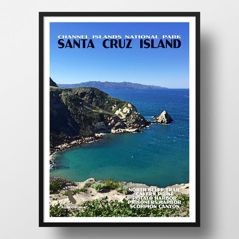 Channel Islands National Park Poster-Santa Cruz Island