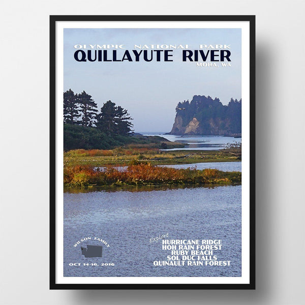 Olympic National Park Poster-Quillayute River (Personalized)