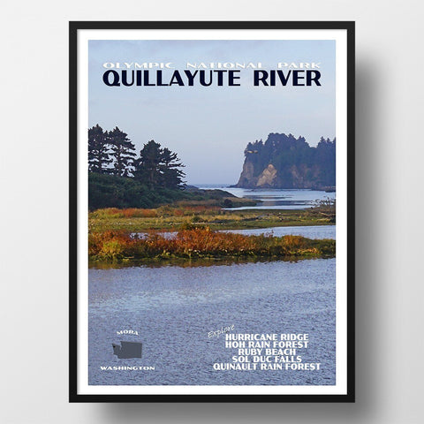 Olympic National Park Poster-Quillayute River