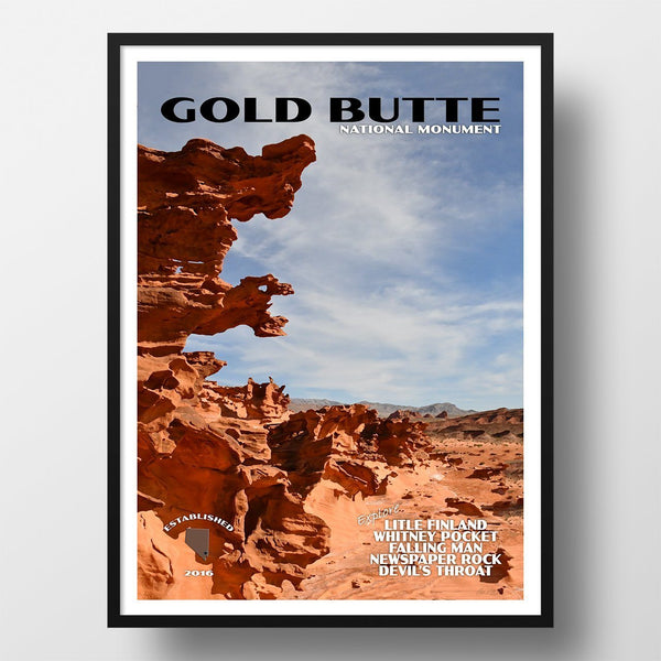 Gold Butte National Monument Poster