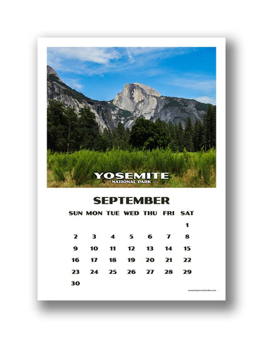 National Park Calendar (16 month) - 2019