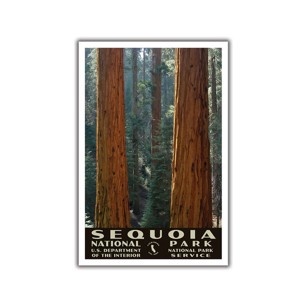 Sequoia National Park Poster, WPA Style, Grant Grove