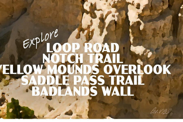 Badlands National Park Poster-Sheep Valley (Personalized)