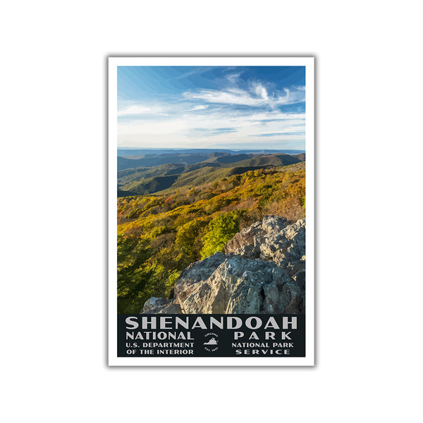Shenandoah National Park Poster-WPA (Bearfence Mountain)