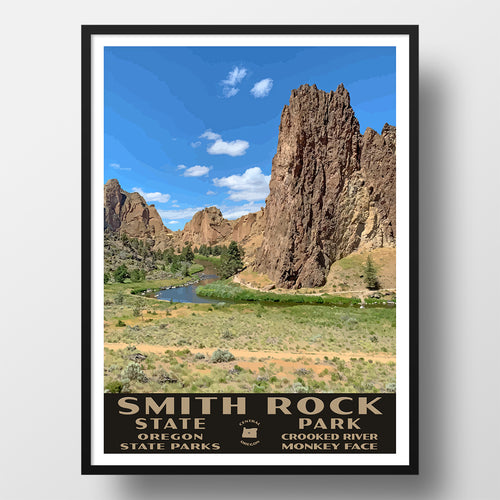 Smith Rock State Park Poster-WPA (Smith Rock Overlook)