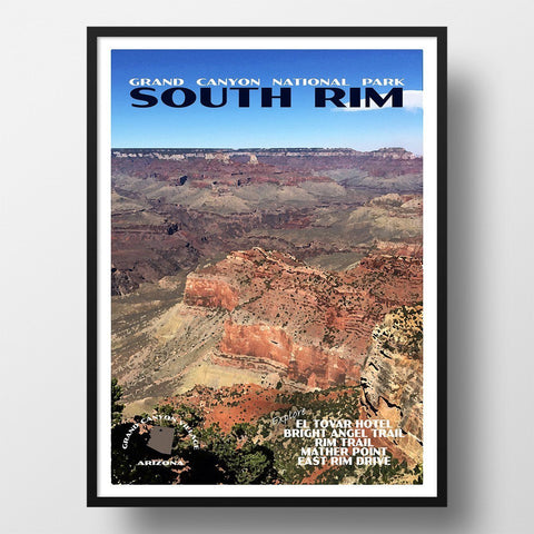 Grand Canyon National Park Poster-South Rim