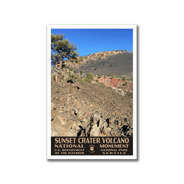 Sunset Crater Volcano National Monument Poster-WPA