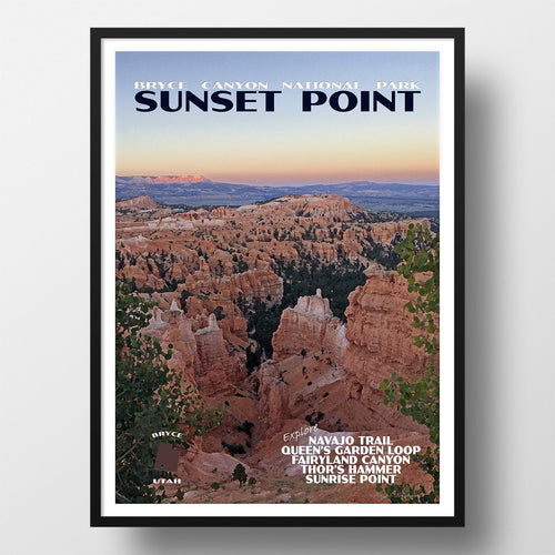 Bryce Canyon National Park Poster-Sunset Point