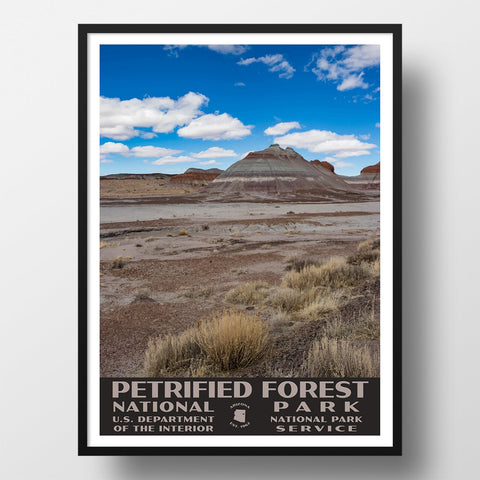 Petrified Forest National Park Poster of the Teepees (WPA Style)