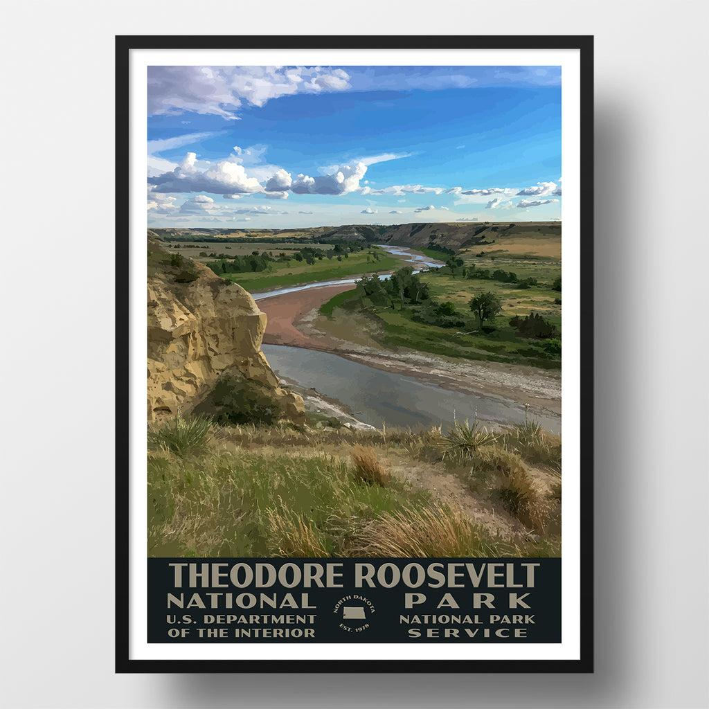 Theodore Roosevelt National Park poster wpa wind canyon
