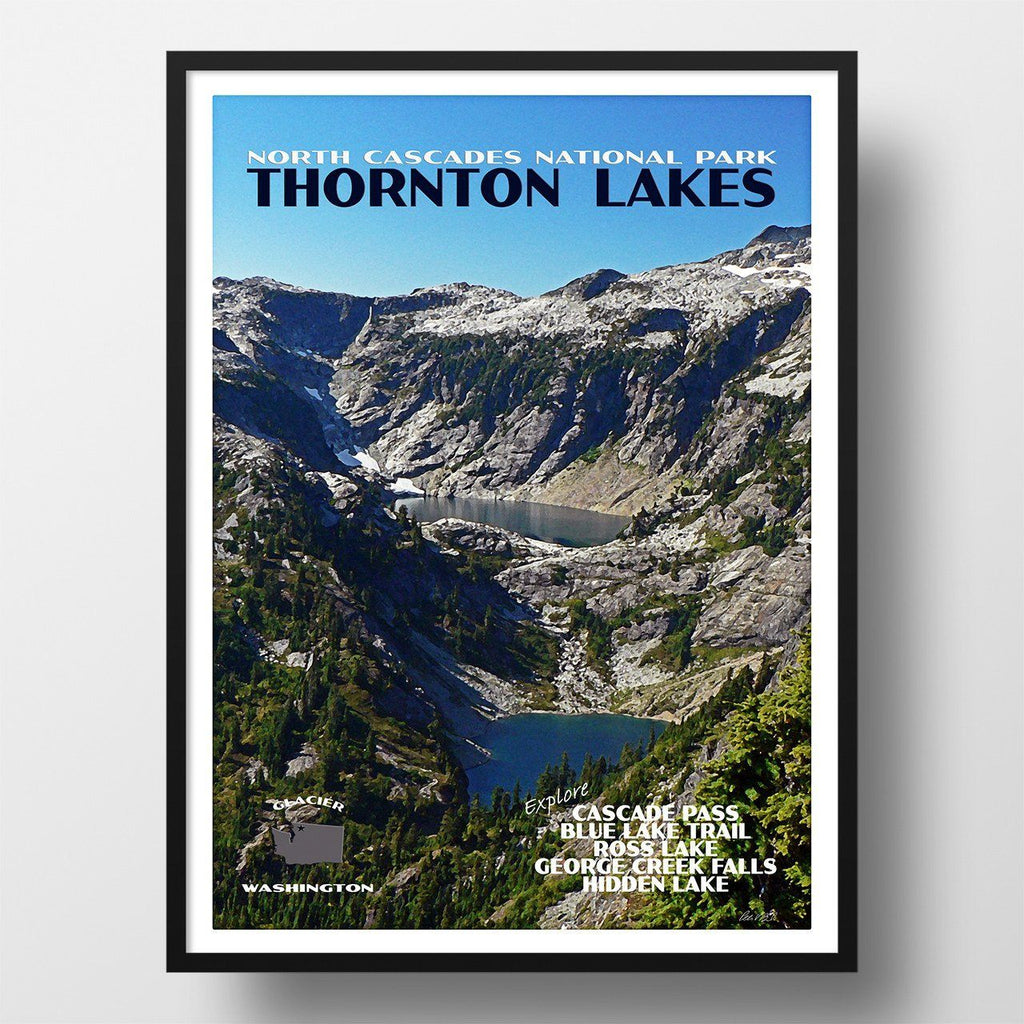 North Cascades National Park Poster-Thornton Lakes