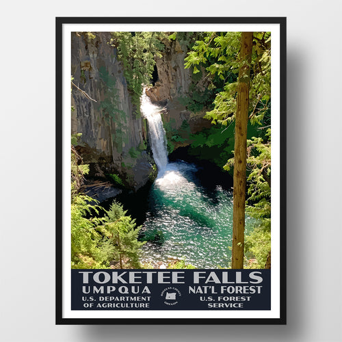 Toketee Falls Umpqua National Forest Poster