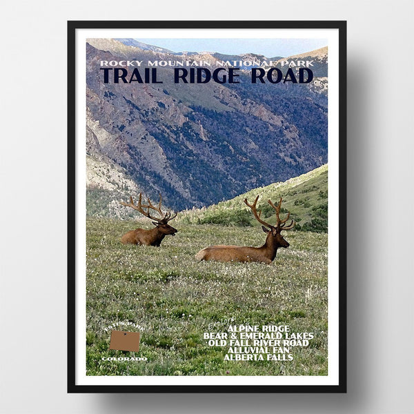 Rocky Mountain National Park Poster-Trail Ridge Road