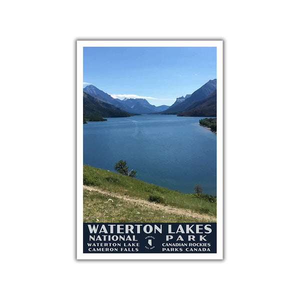 Waterton Lakes National Park Poster-WPA (Lake Waterton)