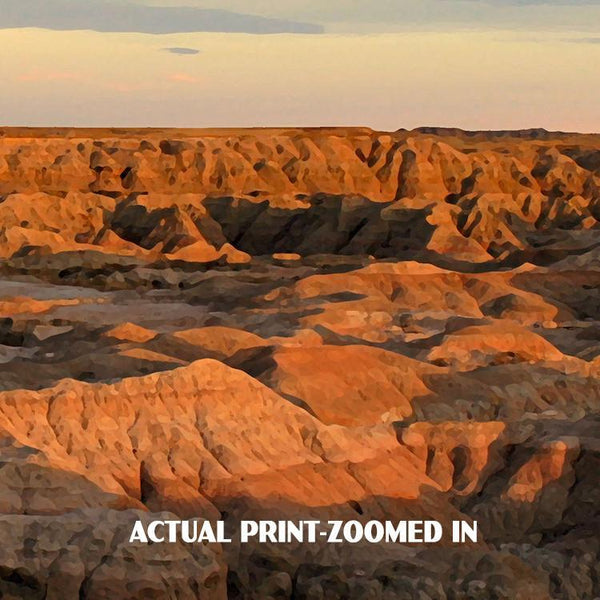 Badlands National Park Poster-White River Valley (Personalized)